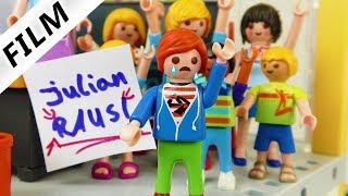 Playmobil Film Deutsch - HAUSVERBOT IN SCHULE! JULIAN WIRD KEIN SCHULKIND? Kinderfilm Familie Vogel