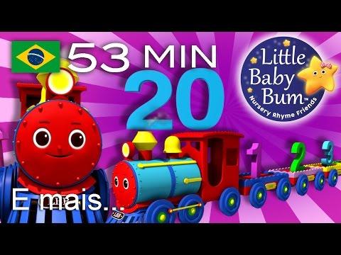 A canção do trem com os números de 1 a 20 | E muitas mais Canções de Ninar | LittleBabyBum!