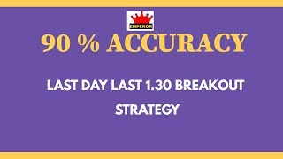 90% ACCURACY  BREAKOUT STRATEGY