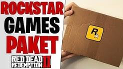 GIGANTISCHES ROCKSTAR GAMES GESCHENK - Erstes Unboxing Video | Red Dead Redemption 2 Merchandise