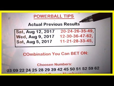 Powerball Lottery Tips - August 2017 Draws