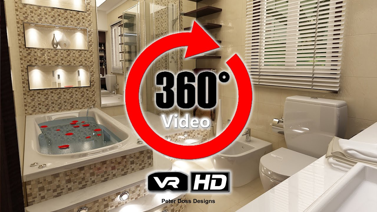 master bathroom design rendering 360 virtual reality hd video peter doss designs - Virtual Bathroom Design