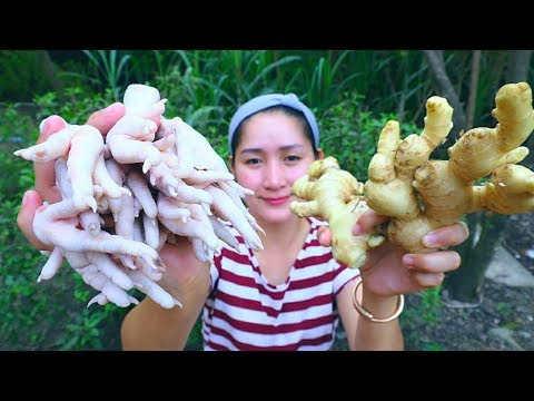 Yummy Chicken Leg Stir Fry Ginger – Chicken Leg Cooking – Cooking With Sros