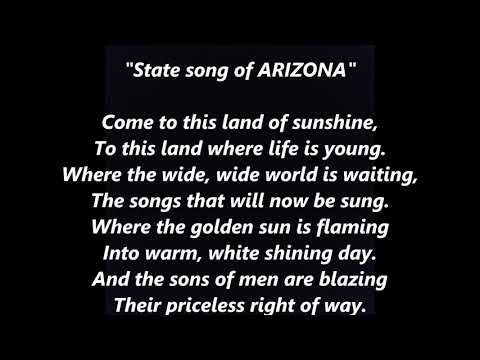 Arizona official State song LYRICS WORDS BEST TOP POPULAR FAVORITE TRENDING SING ALONG SONGS