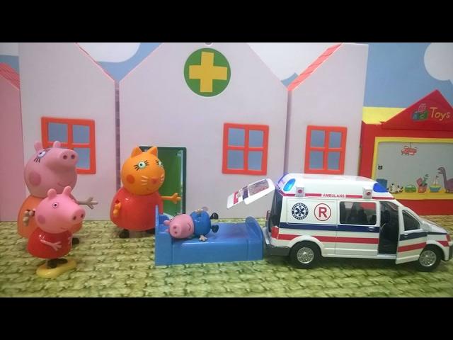 Bajka Świnka Peppa po polsku. Chory George, mama Świnka straciła wszystkie pieniądze!