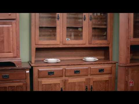 Barn Furniture - Mission Oak China Cabinet Inspired By Stickley