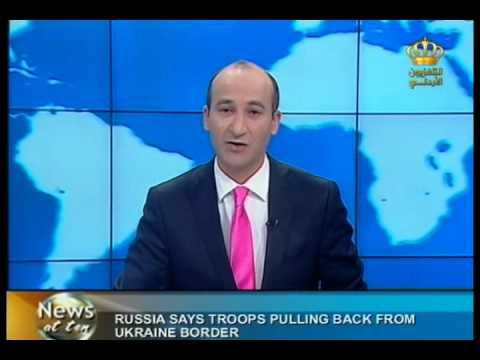 English News At Ten In Jordan Television 31-03-2014