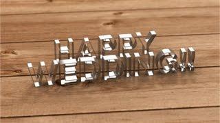 【旧】らぼわん 結婚式の無料コマ撮り素材 クッキー型の「Happy Wedding」 thumbnail