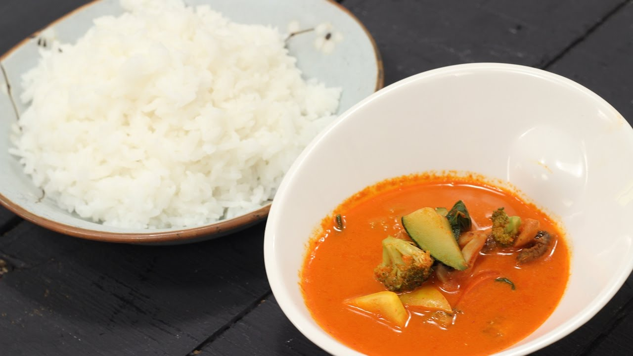 Thai Red Curry with Jasmine Rice | Majha Kitchen | Sanjeev Kapoor ...