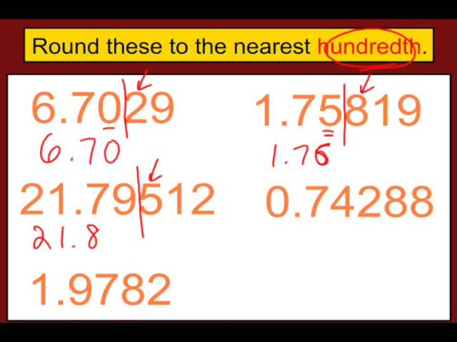 Rounding Decimals Youtube