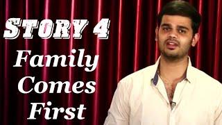 قصة 4 | العائلة تأتي أولا | Vamsee كريشنا ريدي | الإنجليزية قصص إنشاء U | قصة ملهمة