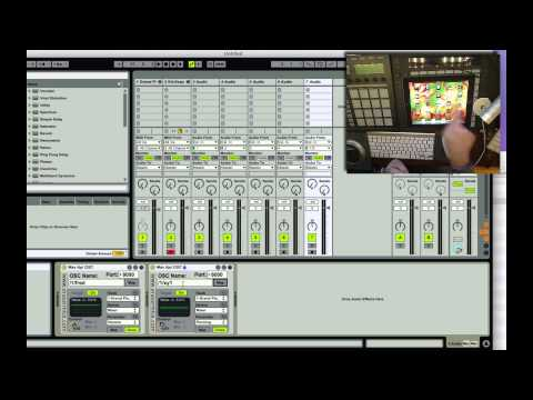 Use OSC w/ Ableton Live w/ EraserMice Tools, map anything!