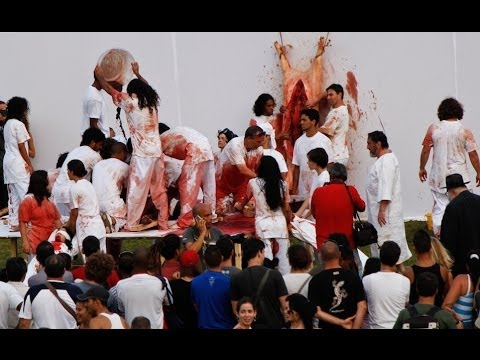 Hermann Nitsch's AKTION 135 at the 2012 Havana Biennial