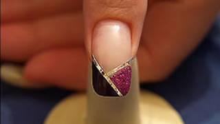 Hologram foil and nail art liner in fuchsia-glitter