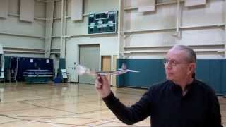 Richards Rubber Band Powered Plane Setup And Flight