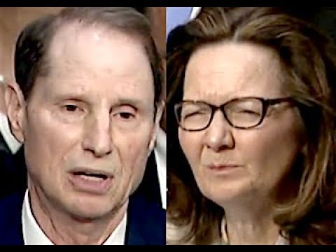 """""""THAT TROUBLES ME!!!"""" Ron Wyden CONFRONTS Trump CIA Nominee Gina Haspel"""