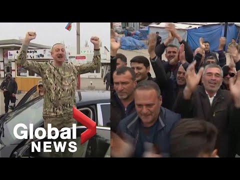 Azerbaijan President Aliyev Visits Nagorno-Karabakh, Says Armenia Must