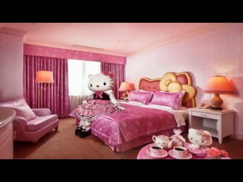 Pink Curtains Children For Cute Hello Kitty Bedroom Decoration Youtube