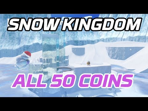 [Super Mario Odyssey] All Snow Kingdom Coins (50 Purple Local Coins)