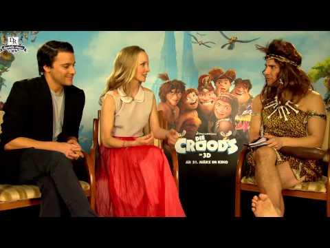Janine Reinhardt und Kostja Ullmann treffen auf Peep - die Croods