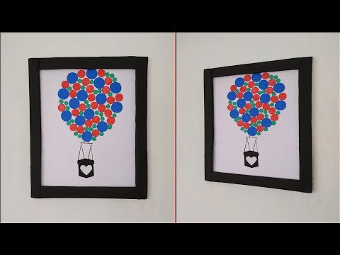 Beautiful handmade colorful wall decoration ideas|| DIY Photo frame|| Wall hanging