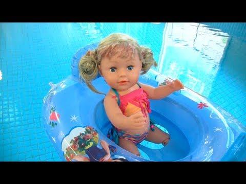 Кукла #БебиБон Эмили Учится Плавать в Бассейне Мультик для детей Играем Как Мама
