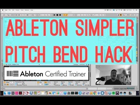 Ableton Simpler Pitch Bend Amount Hack...