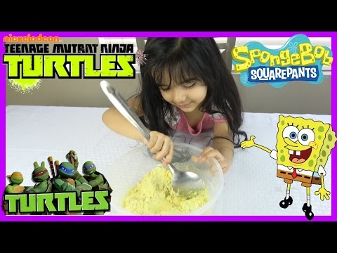BAKING COOKIES! Spongebob Squarepants & TMNT W/ Edible Images! Arianna Surprise World