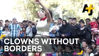 Clowns Without Borders Performs For Refugees