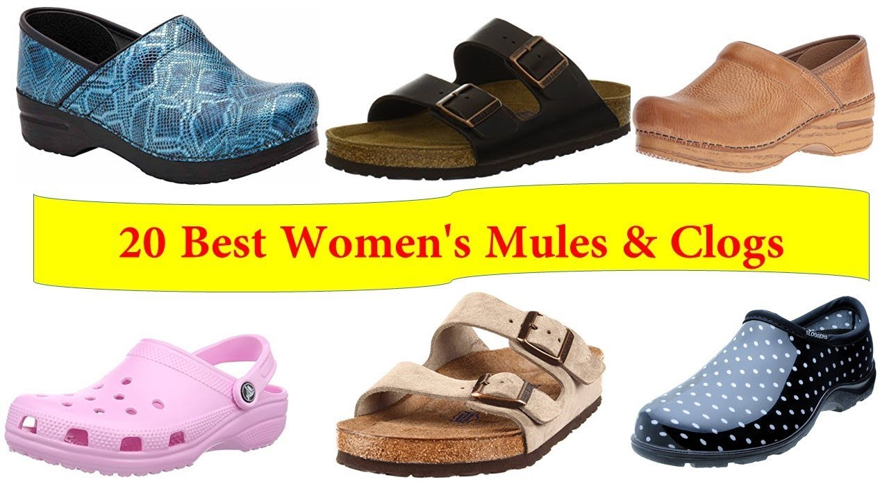 f82ba46365d23 Top 20 women's mules and clogs - YouTube