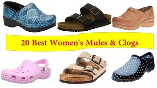 Top 20 women's mules and clogs