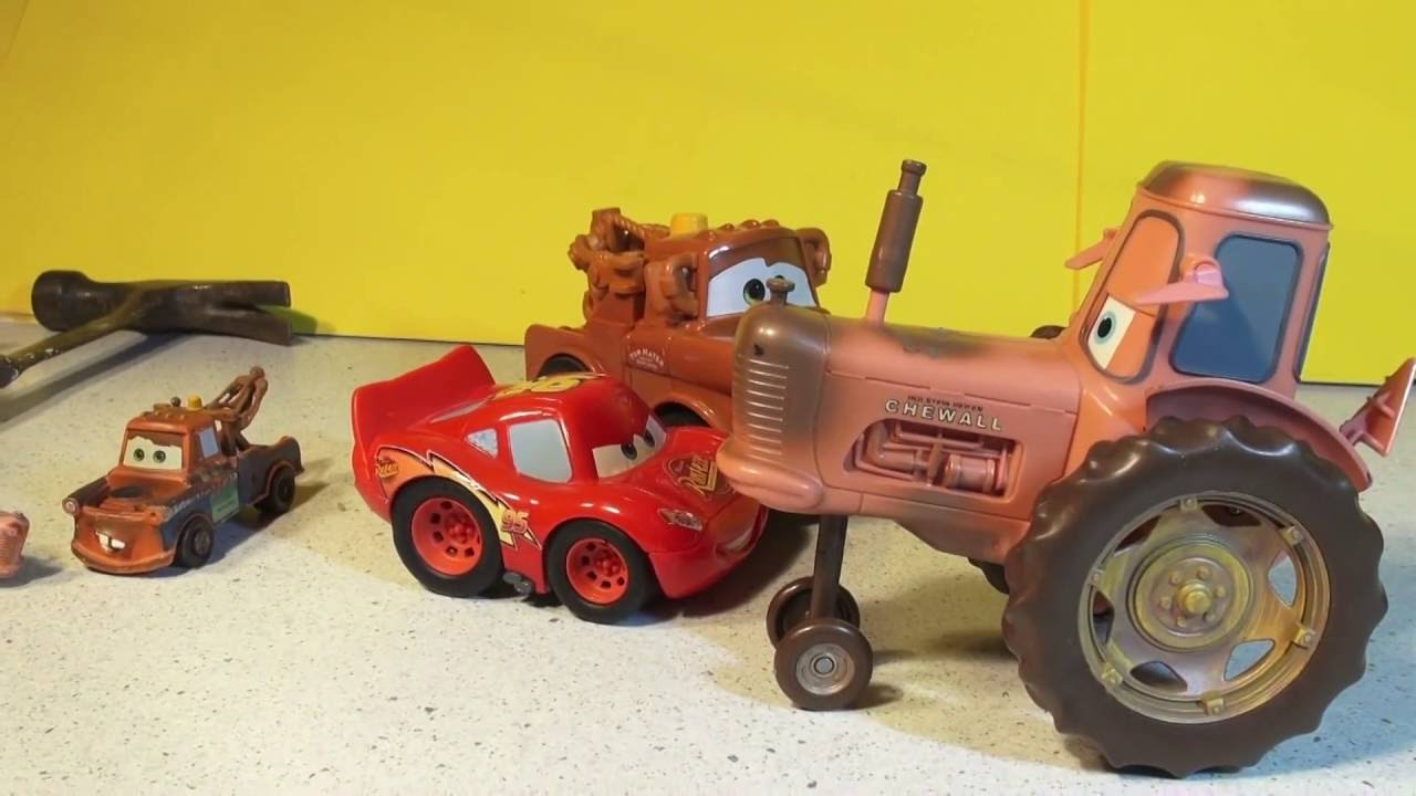 The Pixar Cars Movie Tractor Scene Re Enactment With Mater And