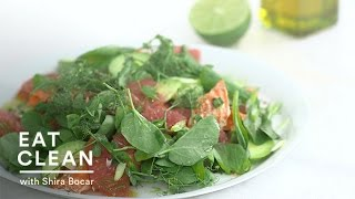 Flaked-salmon, Grapefruit, And Avocado Salad - Eat Clean With Shira Bocar