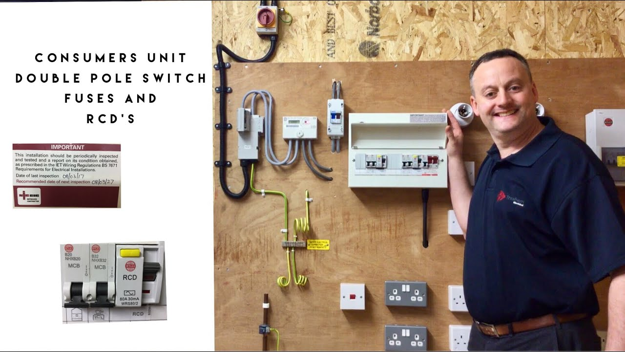 Understanding your Consumer Unit (Fuse Board) Overcurrent & RCD Protection  plus Isolation Features - YouTubeYouTube