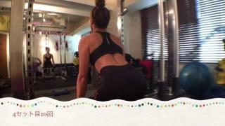 高木あずさ !綺麗な背中トレーニング! GAJARA workout! 高木梓 検索動画 4