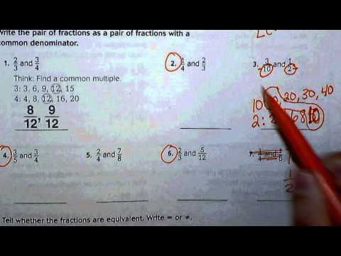 6.4 Go Math Common Denominators - YouTube