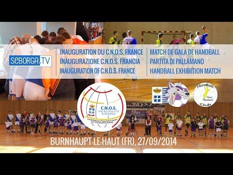 Inauguration du CNOS France et Match de handball de gala HDGB - HBC Thann-Steinbach (27/09/14)