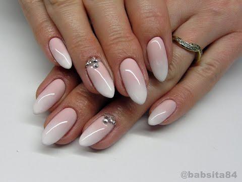 Babyboomer Nails - Cieniowany French - Madam Glam, Semilac, Indigo