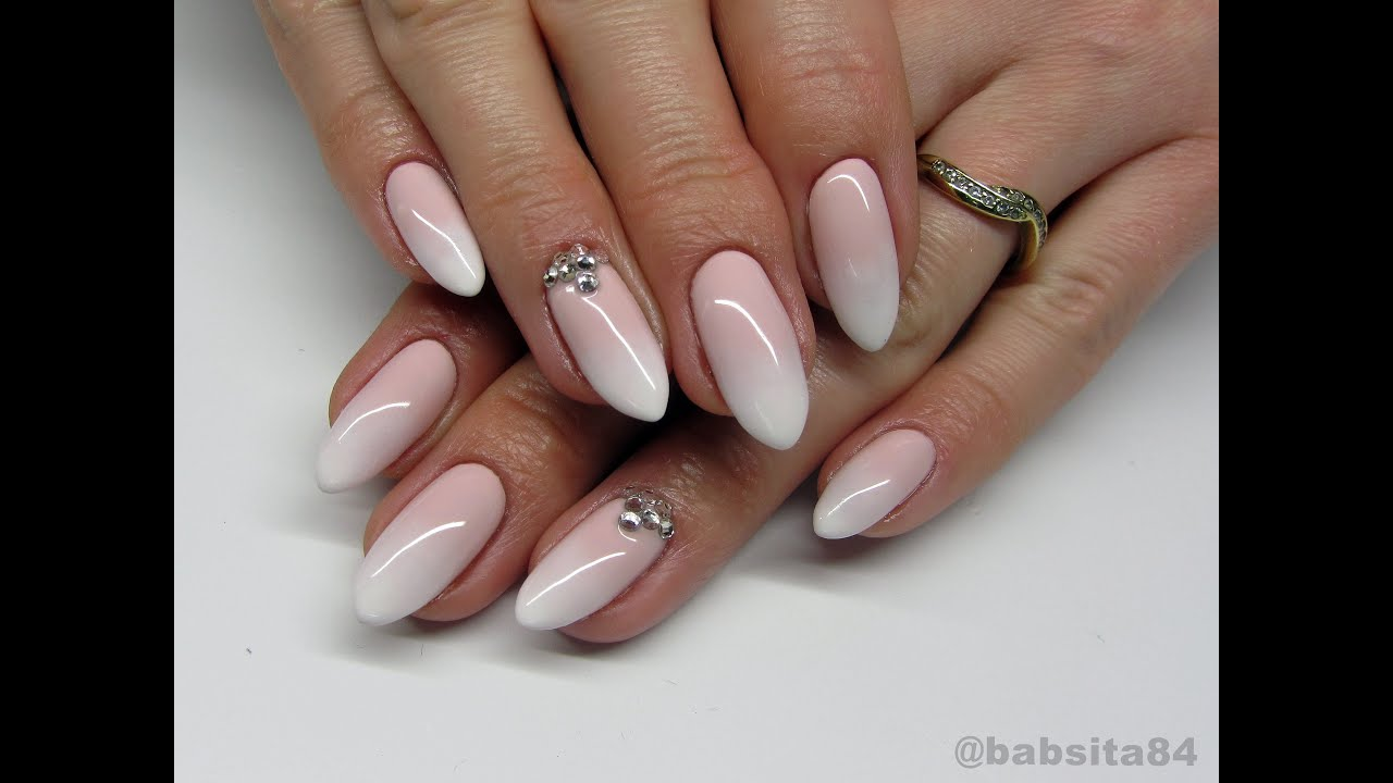 Babyboomer Nails Cieniowany French Madam Glam Semilac Indigo