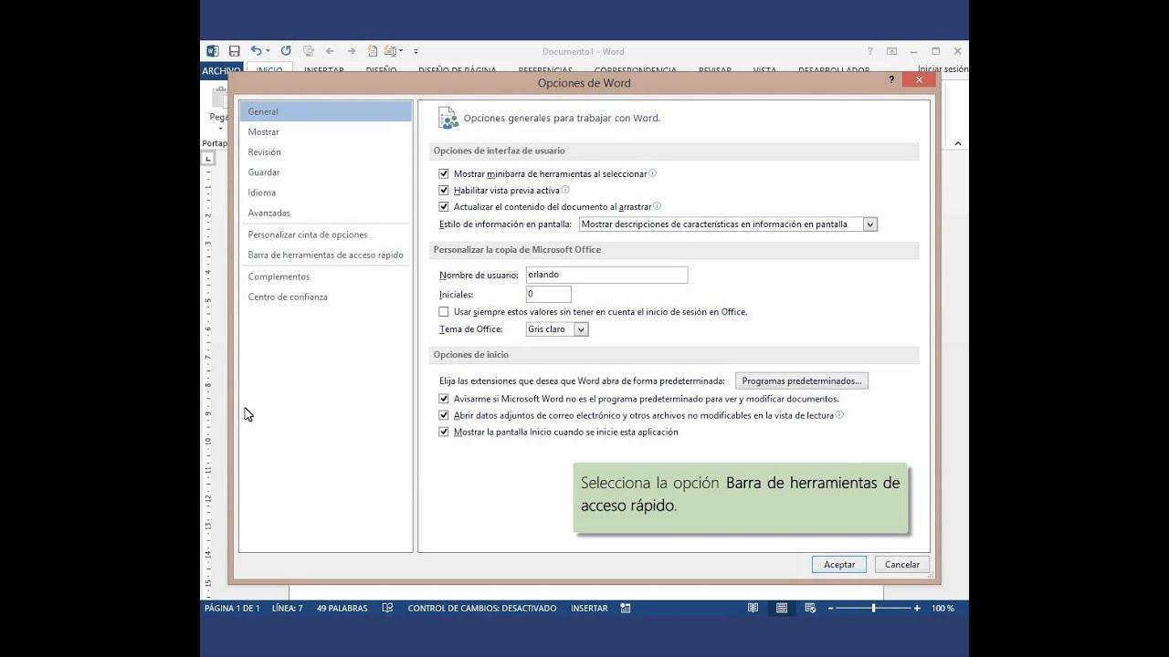 Añadir la función Leer a Word 2013 - YouTube