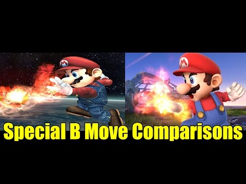 Special B Moves Comparisons In Super Smash Bros Wii U And Brawl (Graphic And Move Changes)