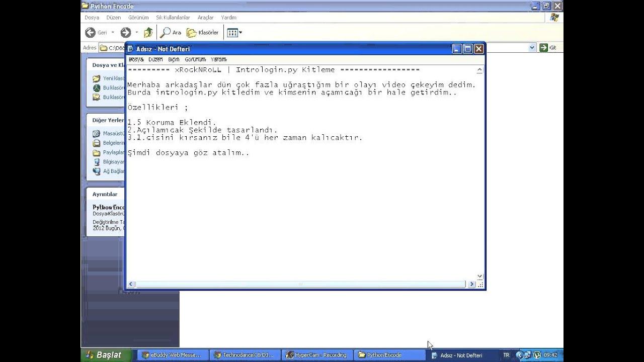 Download Intrologin.py Encode edilmiş ve Decode edilmiş hali / xRocknRoLL