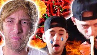 Dumme Typen essen schärfste Chili der Welt ! Torgshow #88