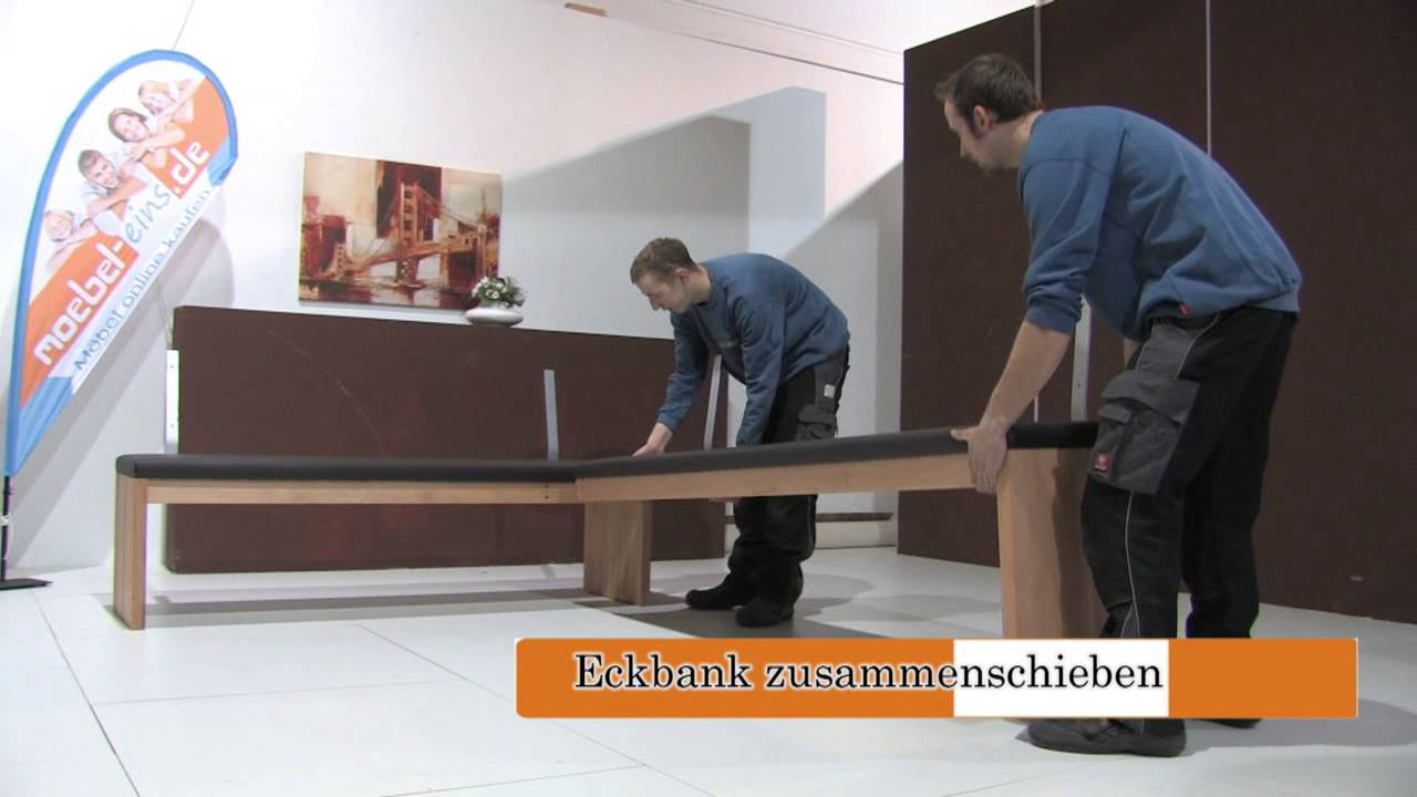 montage aufbau unserer eckbank nach ma von m bel eins youtube. Black Bedroom Furniture Sets. Home Design Ideas