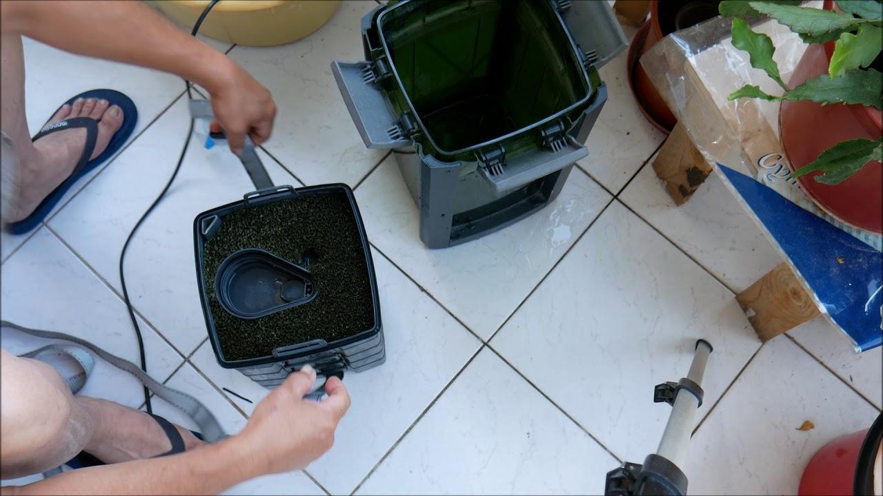 TUTO comment emboiter les paniers des filtre aquarium
