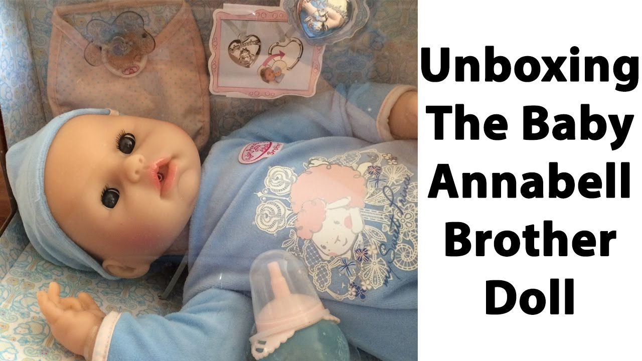 Baby Annabell Brother Doll Unboxing Youtube
