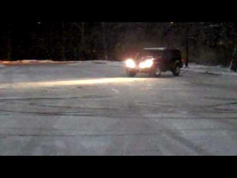 1992 Jeep XJ Cherokee fun in the snow.