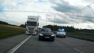 Bad Drivers in Sweden #119 Red lights, mistakes and BMWs
