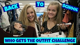 Back to School Who Gets the Outfit Shopping Challenge ~ Jacy and Kacy