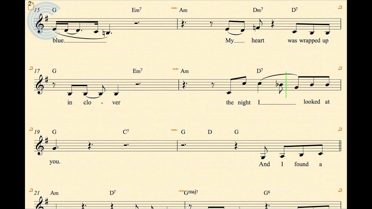 At Last music sheet Free